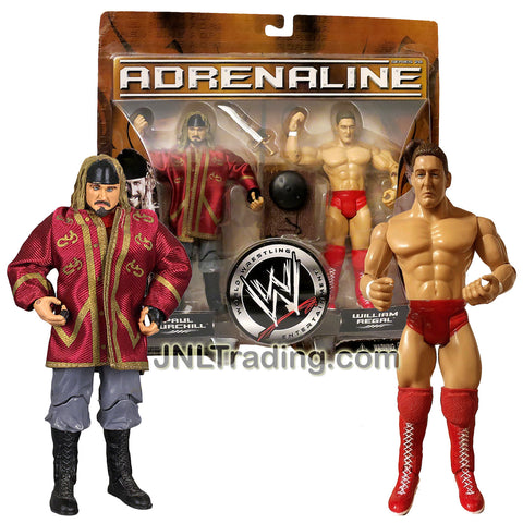 Jakks Pacific Year 2006 World Wrestling Entertainment WWE Adrenaline Series 2 Pack 7 Inch Tall Figure - PAUL BURCHILL and WILLIAM REGAL with Sword and Ring Bell