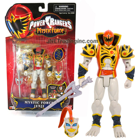 "Bandai Power Rangers Mystic Force Series 6"" Tall Figure - MYSTIC FORCE JENJI with Alternative Head, Sword and Special Card"