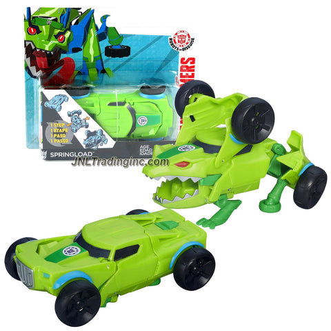 Hasbro Year 2015 Transformers Robots in Disguise Animation Series One Step Changer 4 Inch Tall Robot Action Figure - Decepticon SPRINGLOAD (Vehicle Mode: Muscle Car)