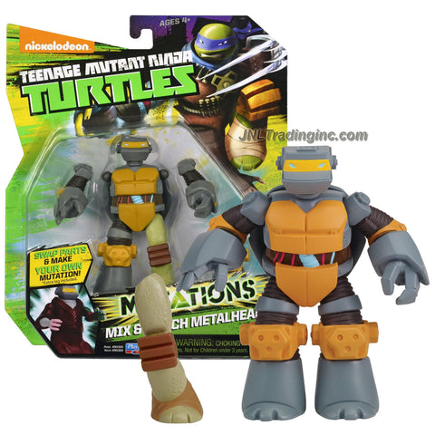 "Playmates Year 2014 Teenage Mutant Ninja Turtles TMNT ""Mutations Mix and Match"" Series 5 Inch Tall Action Figure - METALHEAD with 1 Extra Turtle Left Leg"