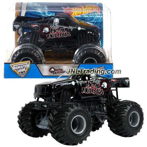 Hot Wheels Year 2016 Monster Jam 1:24 Scale Die Cast Metal Body Truck - METAL MULISHA DJW89 with Monster Tires, Working Suspension & 4 Wheel Steering