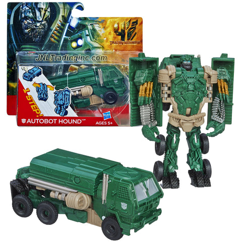 "Hasbro Year 2013 Transformers Movie Series 4 ""Age of Extinction"" One Step Changer 5 Inch Tall Robot Action Figure - AUTOBOT HOUND (Vehicle Mode: Oshkosh Defense Medium Tactical Vehicle)"