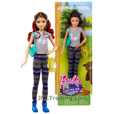 Mattel Year 2016 Barbie Camping Fun Series 11 Inch Doll - SKIPPER DYX13 in Grey FRIDAY Tops and Multicolor Tights with Purse and Lantern