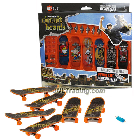 Hexbug Year 2014 Tony Hawk Circuit Boards 6 Pack Set - Red Hawk (001-BH), Robot (003-BH), Skeleton Hawk (009-BH), Pterodactyl (014-BH), Skeleton Hawk (016-BH) and Hawk on Skull (024-BH)