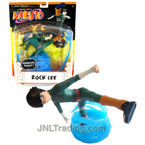 Year 2006 Shonen Jump's Naruto Series Premium Sculpt 7-1/2 Inch Tall Action Figure - ROCK LEE with 3 Authentic Shinobi Poses and Water Display Stand