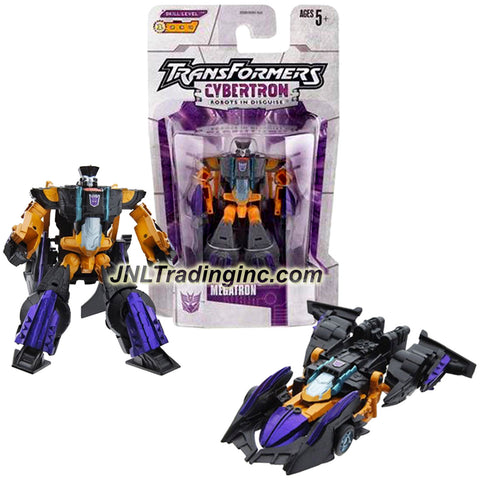 Hasbro Year 2005 Transformers Cybertron Series Legends Class 3 Inch Tall Robot Action Figure - Evil Villain and Leader of the Decepticons MEGATRON (Vehicle Mode: Race Car)