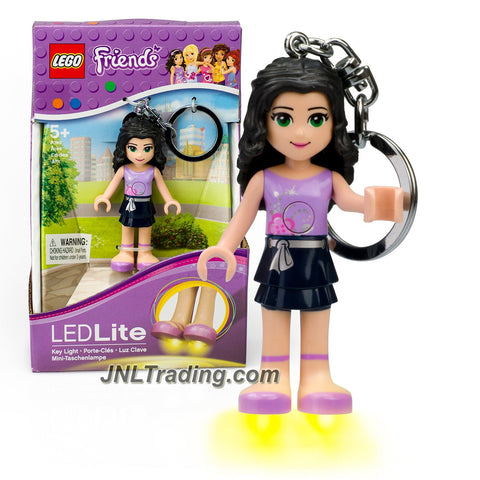 Lego Year 2014 Friends Series 3 Inch Tall Minifigure with LED Lite Light and Keychain Set #KE22E - EMMA