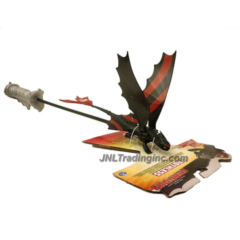 "Spin Master Year 2014 Dreamworks ""How to Train Your Dragon 2"" Movie Racing Dragons Series 9 Inch Long Figure - TOOTHLESS with Flapping Wings Controlled By Handle Stick"