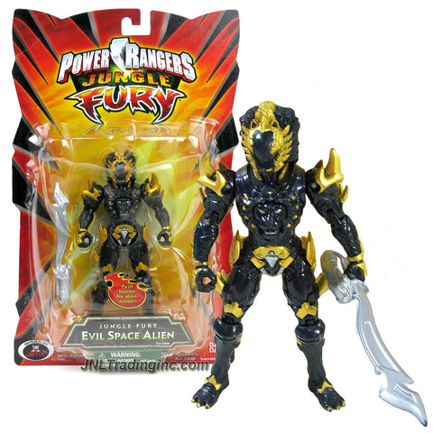 Bandai Year 2007 Power Rangers Jungle Fury Series 6 Inch Tall Action Figure - EVIL SPACE ALIEN DAI SHI with Mouth Movement Feature and Battle Sword