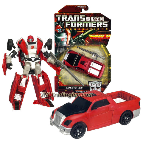 Hasbro Year 2011 Transformers Generations Series Deluxe Class 6 Inch Tall Robot Action Figure - Autobot SWERVE with Exhaust Pipe that Change to Blaster (Vehicle Mode: Pick-Up Truck)