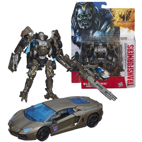 "Hasbro Year 2014 Transformers Movie Series 4 ""Age of Extinction"" Deluxe Class 5-1/2 Inch Tall Robot Action Figure - Decepticon LOCKDOWN with Missile Launcher and 1 Missile (Vehicle Mode: Lamborghini)"