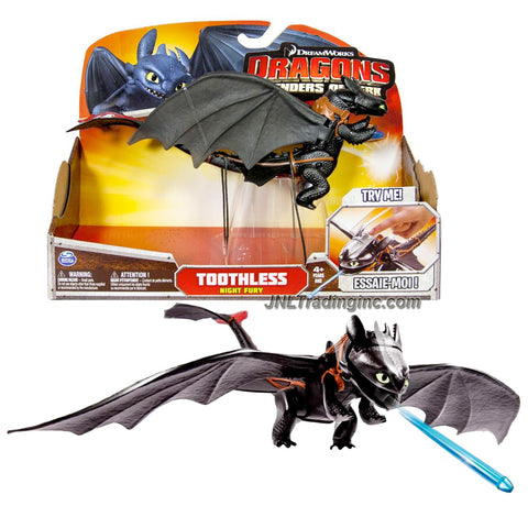 "Spin Master Year 2014 Dreamworks Movie Series ""DRAGONS - Defenders of Berk"" 10 Inch Long Dragon Figure - Night Fury TOOTHLESS with Lunge Attack Missile and Poseable Wings"
