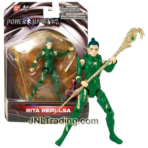 Bandai Year 2017 Saban's Power Rangers Movie Series 5 Inch Tall Figure - RITA REPULSA with Staff