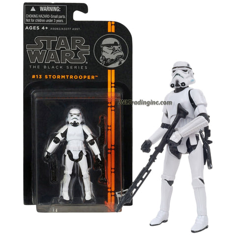 "Hasbro Year 2013 Star Wars The Black Series 4"" Tall Action Figure - #13 STORMTROOPER with E-11 Blaster Rifle and DLT-19 Heavy Blaster Rifle"