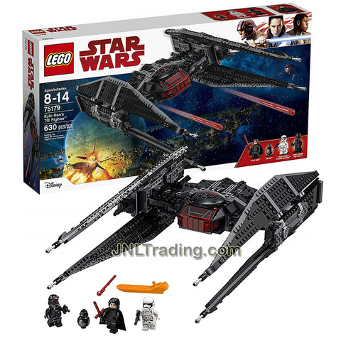 Year 2017 Lego Star Wars Series Vehicle Set #75179 - KYLO REN'S TIE FIGHTER with Kylo Ren, 1st Order TIE Pilot and Stormtrooper, plus a BB-9E Minifigures.(Pieces: 630)
