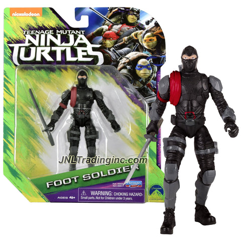 Playmates Year 2016 Teenage Mutant Ninja Turtles TMNT Movie Out of the Shadow Series 5 Inch Tall Action Figure - FOOT SOLDIER with Katana Sword