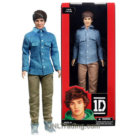 Year 2012 One Direction 1D Collector Series 12 Inch Doll - LIAM PAYNE with Blue Denim Long Sleeve Shirt and Brown Denim Pants