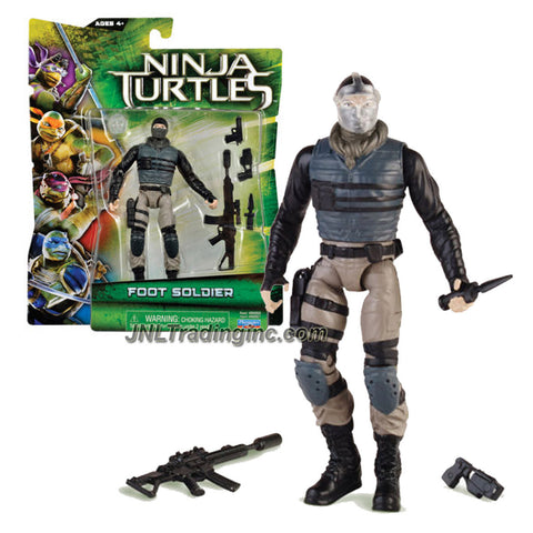Playmates Year 2014 Teenage Mutant Ninja Turtles TMNT Movie Series 5 Inch Tall Action Figure - FOOT SOLDIER with Mask, 2 Guns, Dagger and Sniper Rifle
