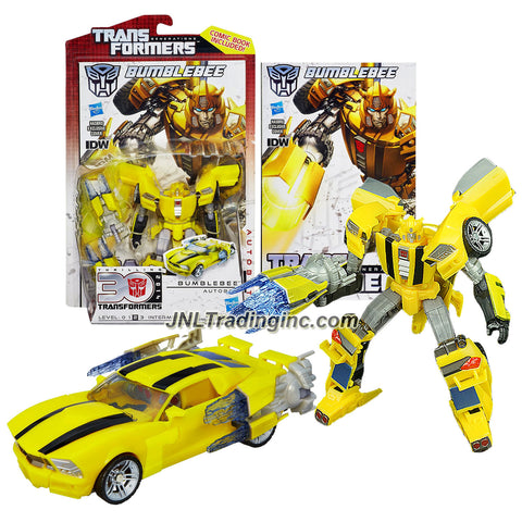 "Hasbro Year 2012 Transformers Generations ""Thrilling 30"" Series Deluxe Class 6 Inch Tall Robot Action Figure - Autobot BUMBLEBEE with Stinger Blaster and Comic Book (Vehicle Mode: Sports Car)"