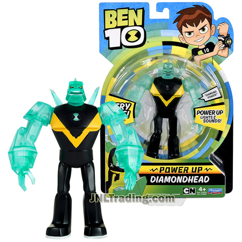 Cartoon Network Year 2017 Ben 10 Series 6 Inch Tall Electronic Figure - Power Up DIAMONDHEAD with Lights and Sounds