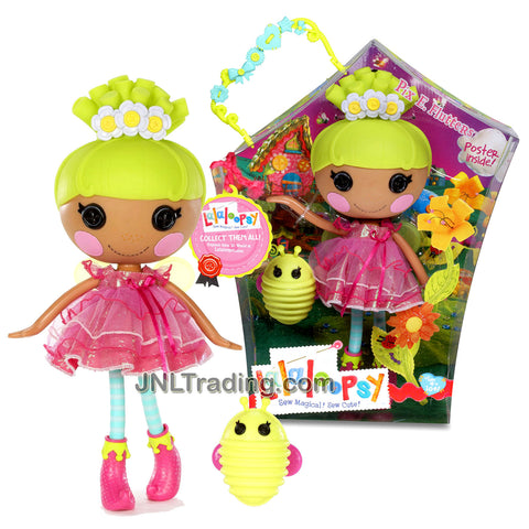 Lalaloopsy Sew Magical! Sew Cute! 12 Inch Tall Button Doll - Pix E. Flutters with Pet Green Firefly Plus Bonus Poster Inside