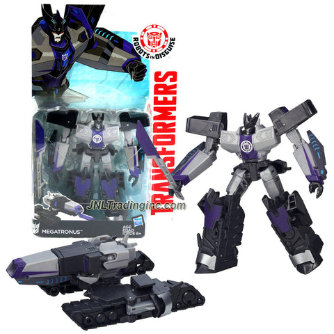 Hasbro Year 2015 Transformers Robots in Disguise Animation Series Deluxe Class 5-1/2 Inch Tall Robot Action Figure - Decepticon MEGATRONUS with Sword (Vehicle Mode: Battle Tank)