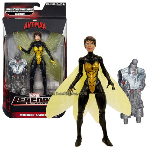 "Hasbro Year 2015 Marvel Legends Infinite Ultron Series 6"" Tall Action Figure - MARVEL'S WASP with Ultron's Abdomen"