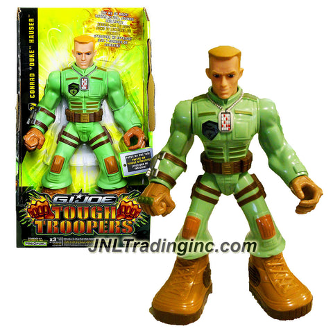 "Hasbro Year 2009 G.I. JOE Tough Troopers Series 11 Inch Tall Action Figure - CONRAD ""DUKE"" HAUSER with Power Punch Battle Action, Sounds and Light"