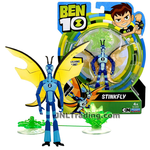 Cartoon Network Year 2017 Ben 10 Series 4-1/2 Inch Tall Figure - STINKFLY with Zipline