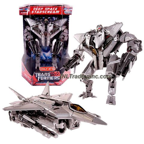 Hasbro Year 2007 Series 1 Transformers Movie Exclusive Limited Edition Voyager Class 7 Inch Tall Action Figure - Decepticon Deep Space STARSCREAM with Metallic Finish Plus Missile Launchers and 6 Missiles (Vehicle Mode: F-22 Raptor Fighter Jet)