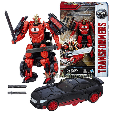 Transformers Year 2016 The Last Knight Movie Premier Edition Series Deluxe Class 5-1/2 Inch Tall Figure - AUTOBOT DRIFT with 2 Katana and 2 Tanto Short Swords (Vehicle: Mercedes AMG GT-R)