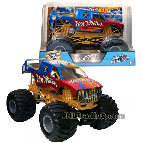Hot Wheels Year 2017 Monster Jam 1:24 Scale Die Cast Metal Body Official Monster Truck Series - HOT WHEELS Since 68 FMB61 with Monster Tires, Working Suspension and 4 Wheel Steering
