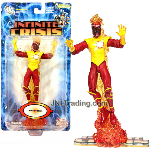 DC Direct Year 2007 DC Comics Series 2 Infinite Crisis 6-1/2 Inch Tall Action Figure - FIRESTORM with Flame Base and Display Stand