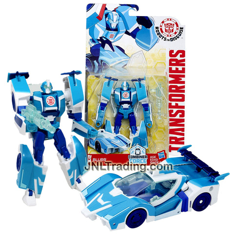 Transformer Year 2016 Robots In Disguise Combiner Force Series  Warriors Class 5-1/2 Inch Tall Figure - BLURR with Blaster (Vehicle: Sports Car)