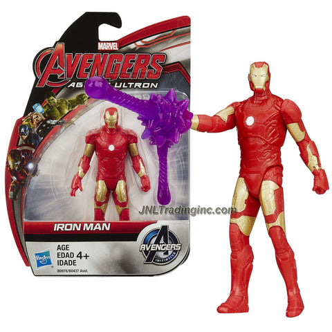 Hasbro Year 2015 Marvel Avengers Age of Ultron Series 4 Inch Tall Action Figure - IRON MAN with Energy Blast