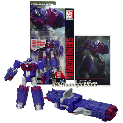 Hasbro Year 2015 Transformers Generations Combiner Wars Series 4 Inch Tall Legends Class Robot Action Figure - Decepticon SHOCKWAVE with Collector Card (Vehicle Mode: Blaster Cannon)
