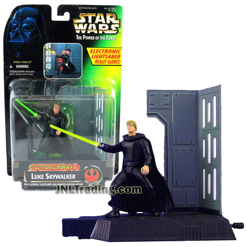 STAR WARS THE POWER OF THE FORCE DARTH VADER WITH GLOWING LIGHT SABER Film, TV & Videospiele