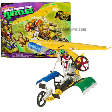 Year 2013 Teenage Mutant Ninja Turtles TMNT Vehicle Set : Prop-Powered T-Glider SHELL FLYER with Mutant-Mashing Capture Claws