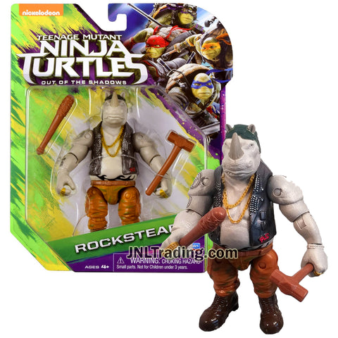 Year 2016 Teenage Mutant Ninja Turtles TMNT Movie Out of the Shadow Series 5 Inch Tall Figure - ROCKSTEADY with Club and Hammer