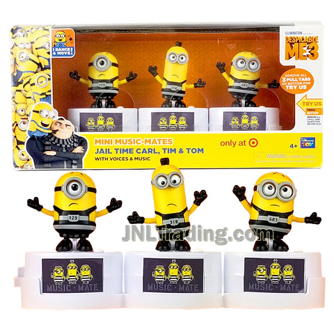 Despicable Me 3 Series Exclusive Mini Music-Mates Figure - JAIL TIME CARL, TIM & TOM with Voices and Music