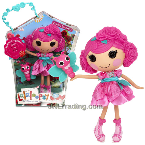"Lalaloopsy Sew Magical! Sew Cute! 12 Inch Tall Button Doll - Rosebud Longstem with Pet ""Butterfly"""