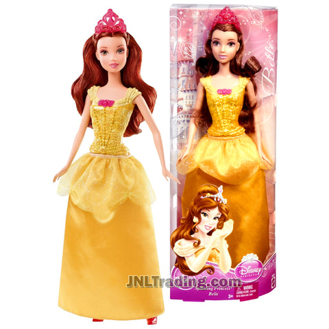 Disney Princess Year 2012 Sparkling Princess Series 12 Inch Doll Set - Beauty and the Beast Princess BELLE BBM23 with Tiara