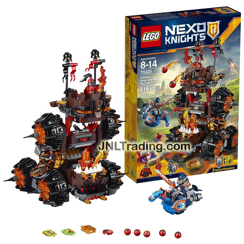 Lego Year 2016 Nexo Knights Set #70321 - GENERAL MAGMAR'S SIEGE MACHINE OF  DOOM with General Magmar, Flama and Clay Moorington Minifigures (Pcs: 658)