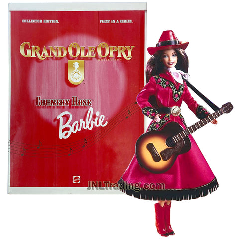 Year 1997 Barbie Collector Edition First In A Series Grand Ole Opry Collection 12 Inch Doll - COUNTRY ROSE Barbie with Hat, Scarf, Boots, Guitar, Doll Stand and Certificate of Authenticity