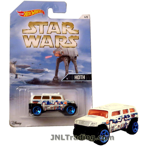 Hot Wheels Year 2015 Star Wars Series 1:64 Scale Die Cast Car Set 4/8 - White Color HOTH ROCKSTER DJL07