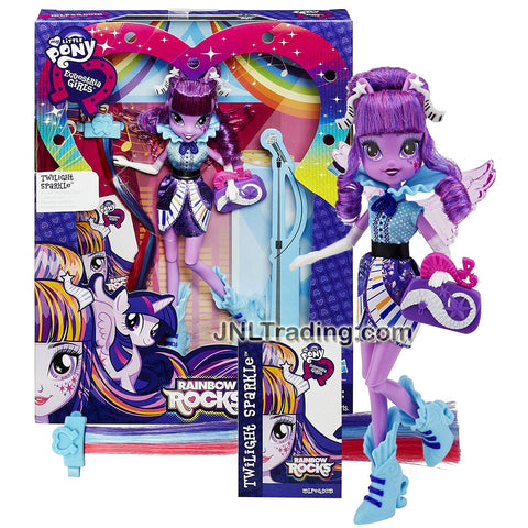 Hasbro Year 2014 My Little Pony Equestria Girls Series 9 Inch Doll Set - TWILIGHT SPARKLE with Wings, Pony Hair Extensions, and Purse