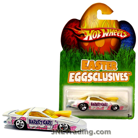 Hot Wheels Year 2007 Easter Eggsclusives Series 1:64 Scale Die Cast Car Set - White Muscle Coupe Basket Case PRO STOCK PONTIAC N1143