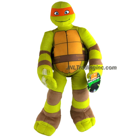 Playmates Year 2015 Nickelodeon Teenage Mutant Ninja Turtles LARGE 24 Inch Tall Plush Toy Figure - MICHELANGELO