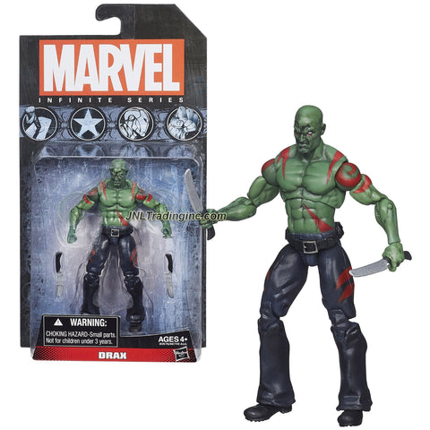 Hasbro Year 2014 Marvel Infinite Series 4 Inch Tall Action Figure - Guardians of the Galaxy DRAX with 2 Daggers