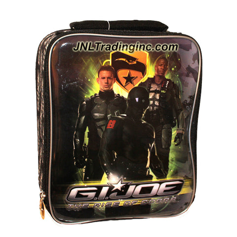 "Zak! G.I. JOE Movie Series ""The Rise of Cobra"" Soft Insulated Single Compartment Lunch Bag with Image of Duke, Snake Eyes and Heavy Duty (Bag Size: 10"" x 8"" x 3-1/2"")"